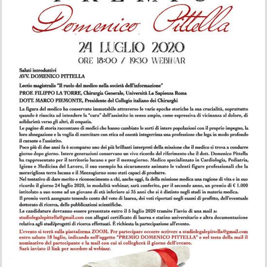 Locandina Domenico Pittella 2° Edizione